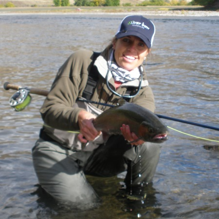 Fly fishing guide Angie Morgan